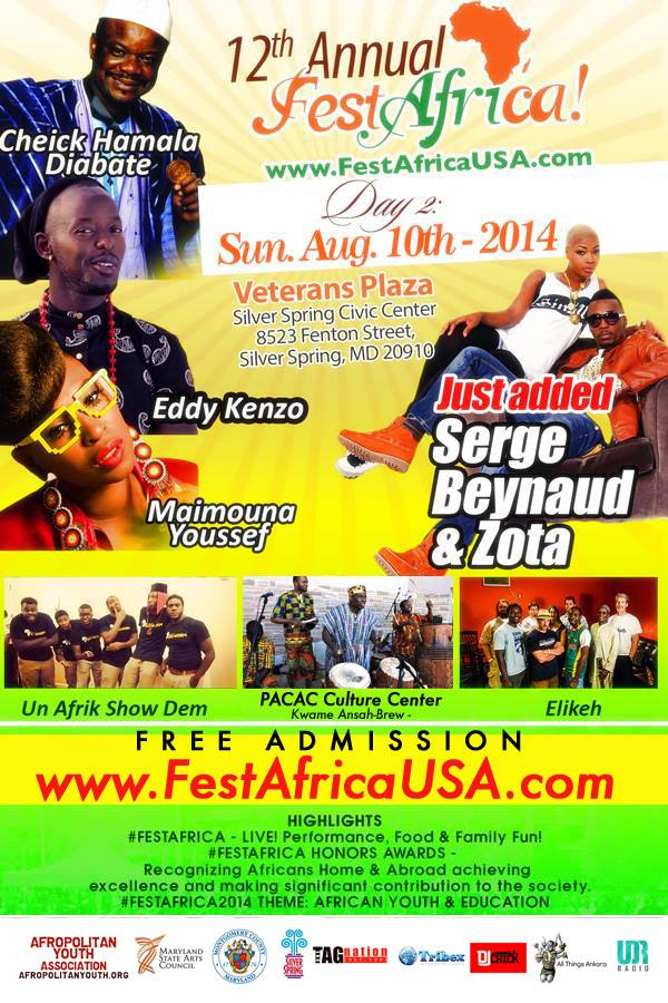 FestAfrica 2014 Augu 10th Flyer