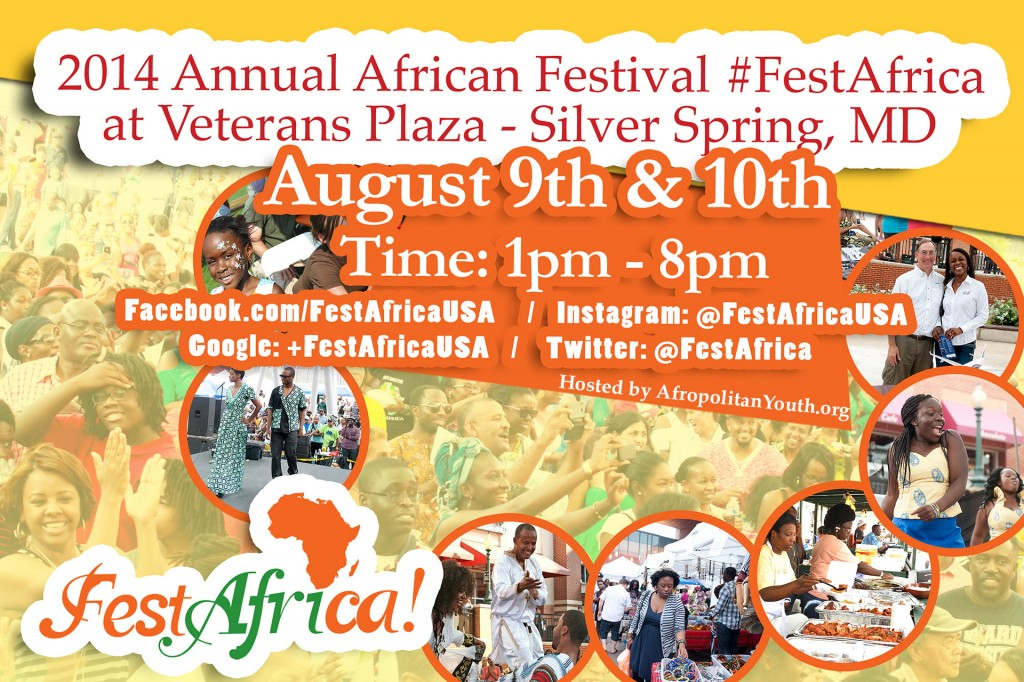 FestAfrica 2014 Flyer AYA Afropolitan Youth Association of Maryland African Festival 2